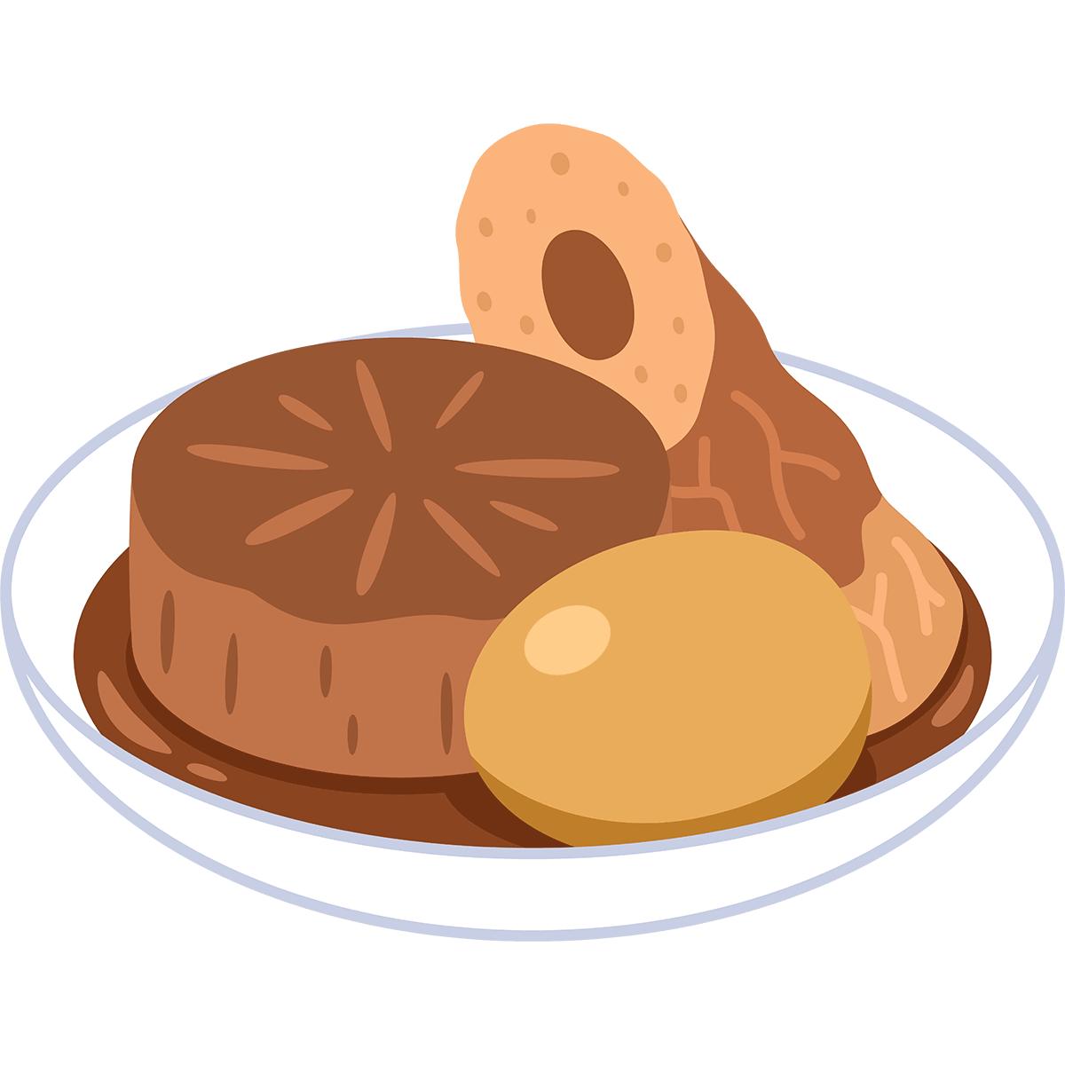 味噌おでんの無料イラスト