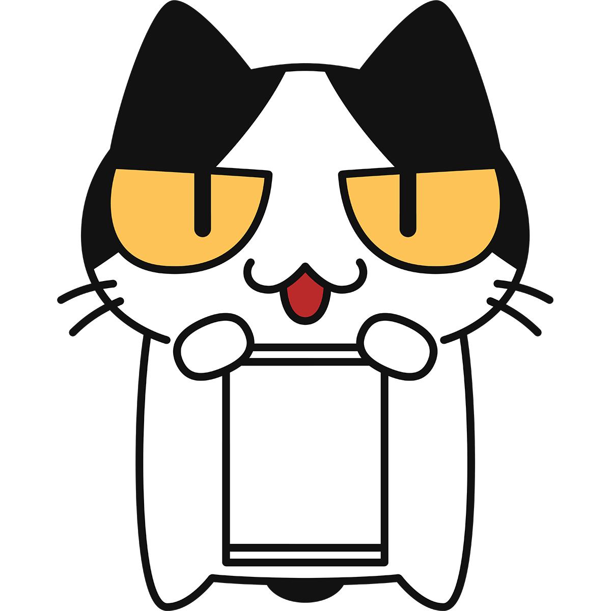 勝訴(空白)と猫の無料イラスト