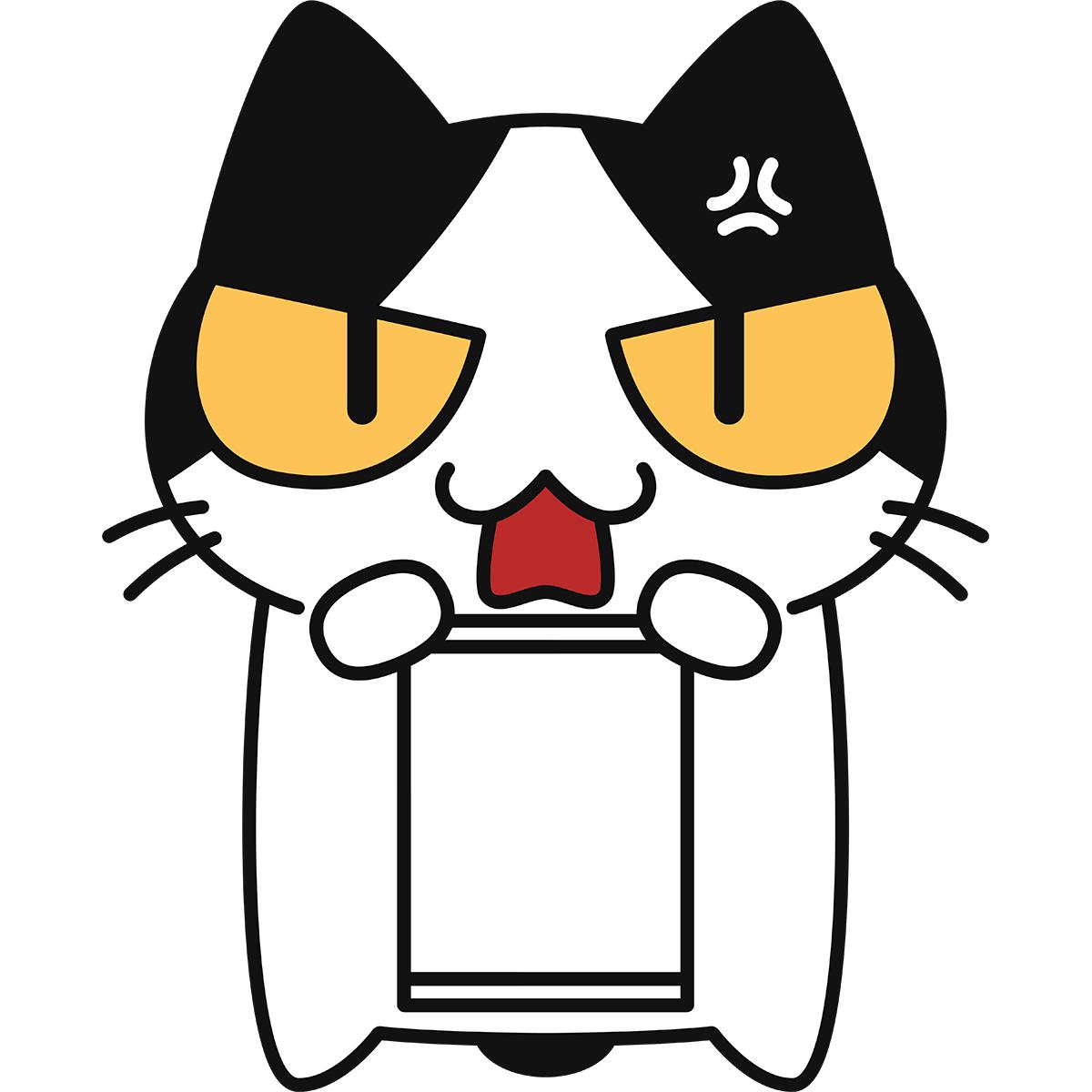 不当判決(空白)と猫の無料イラスト