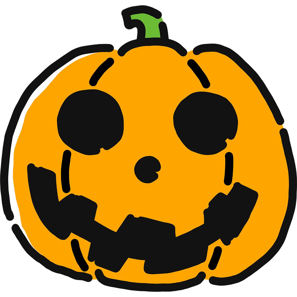 【手描き】ハロウィンがぼちゃの無料イラスト