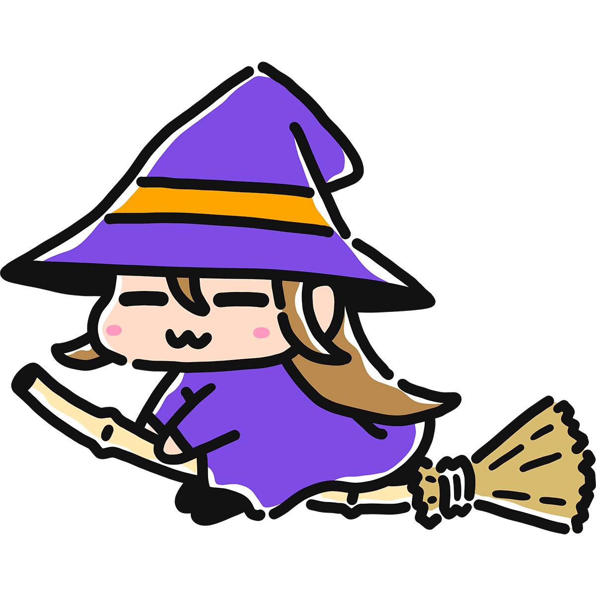 【手描き】魔女の無料イラスト