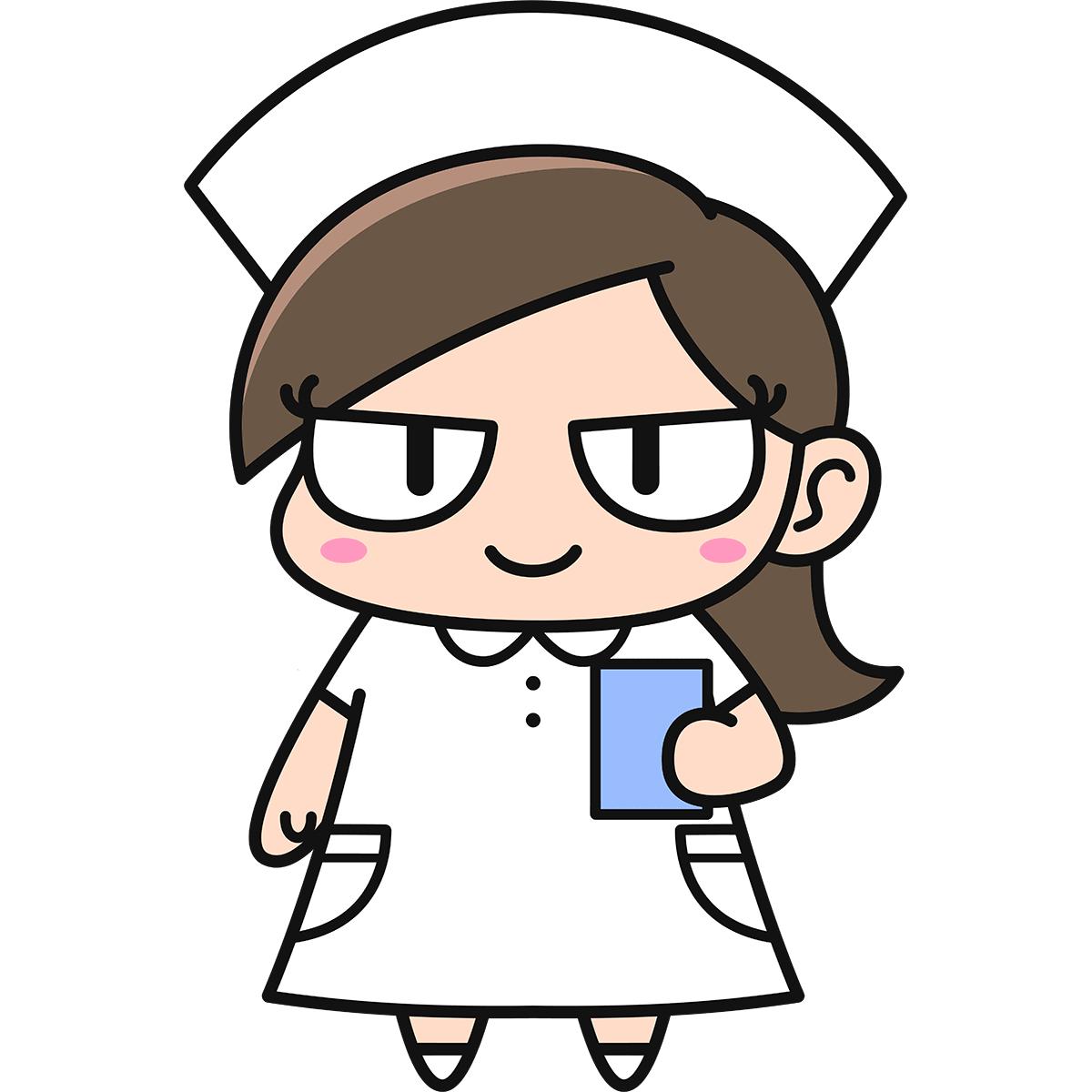 女性看護師ダメコの無料イラスト