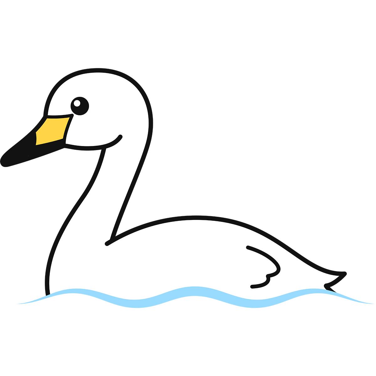 白鳥の無料イラスト
