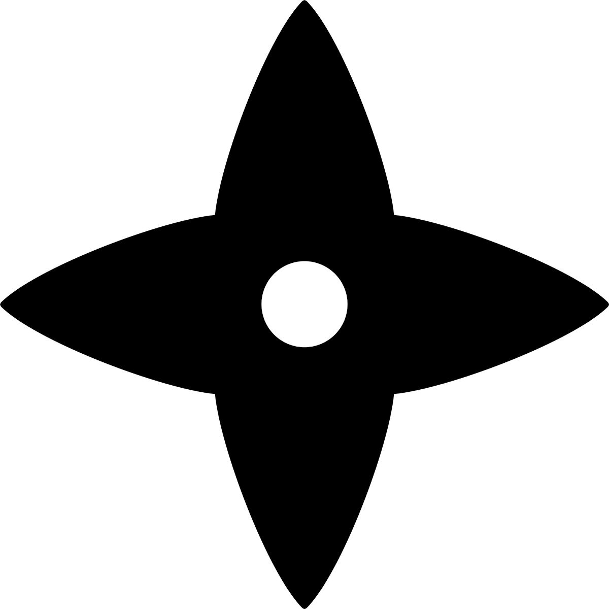 【アイコン】手裏剣の無料イラスト