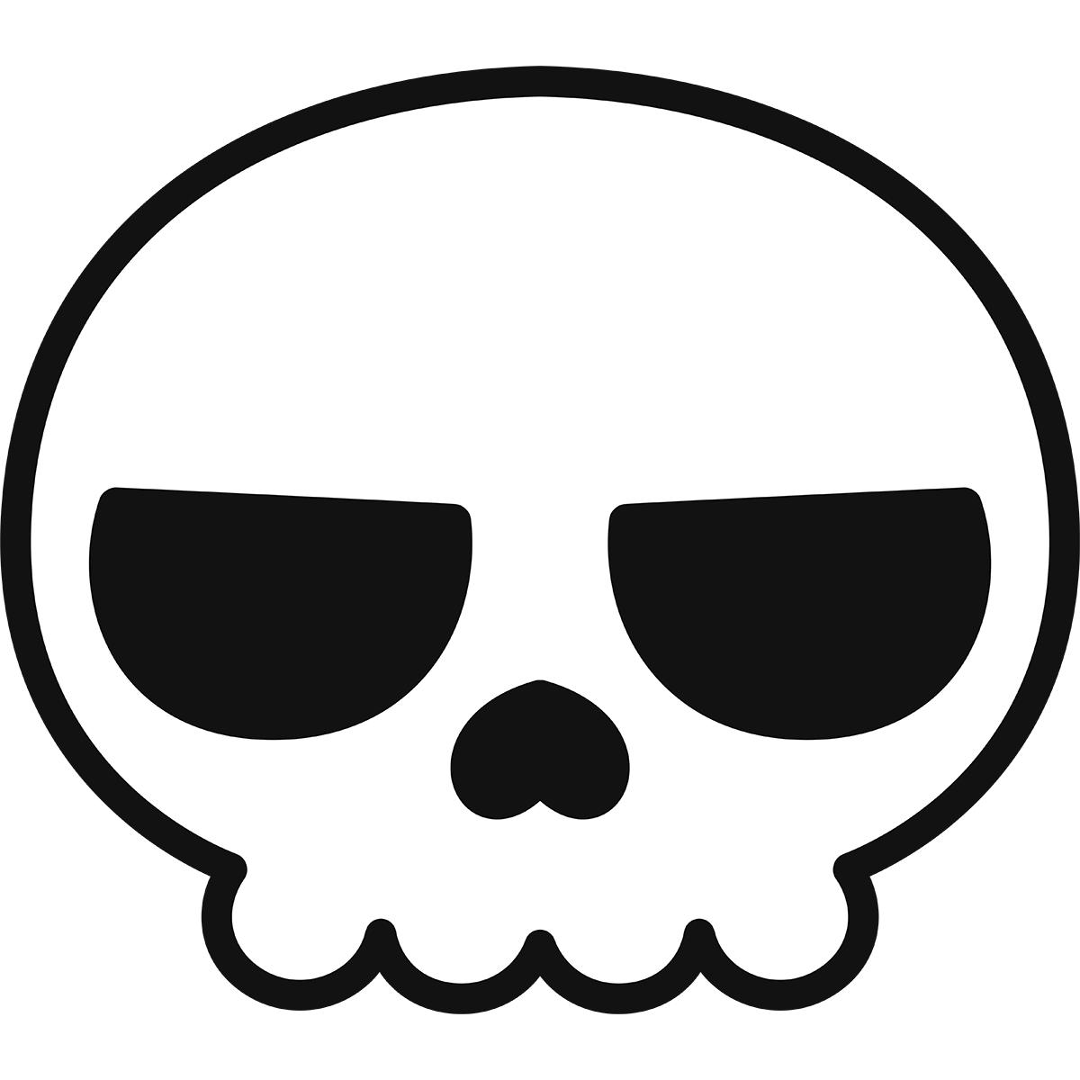 【アイコン】ドクロの無料イラスト