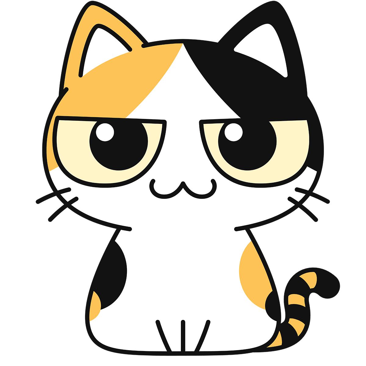 三毛猫の無料イラスト