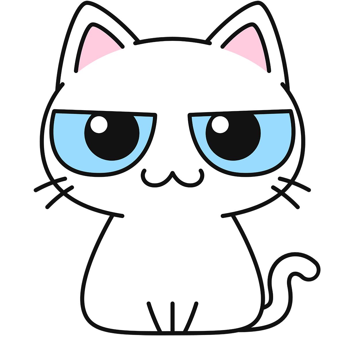 白猫の無料イラスト