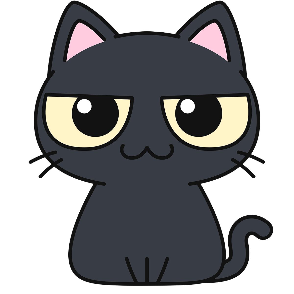 黒猫の無料イラスト