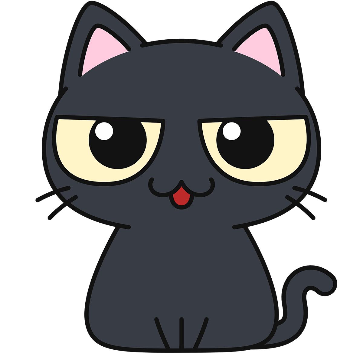 黒猫(話す)の無料イラスト