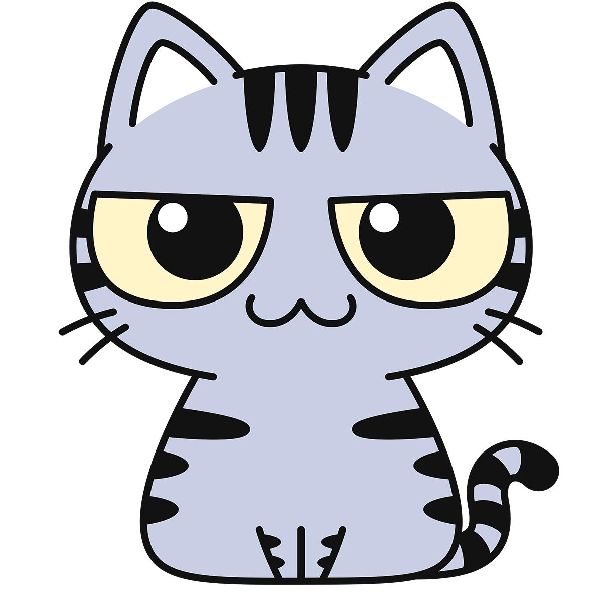 サバトラ猫の無料イラスト