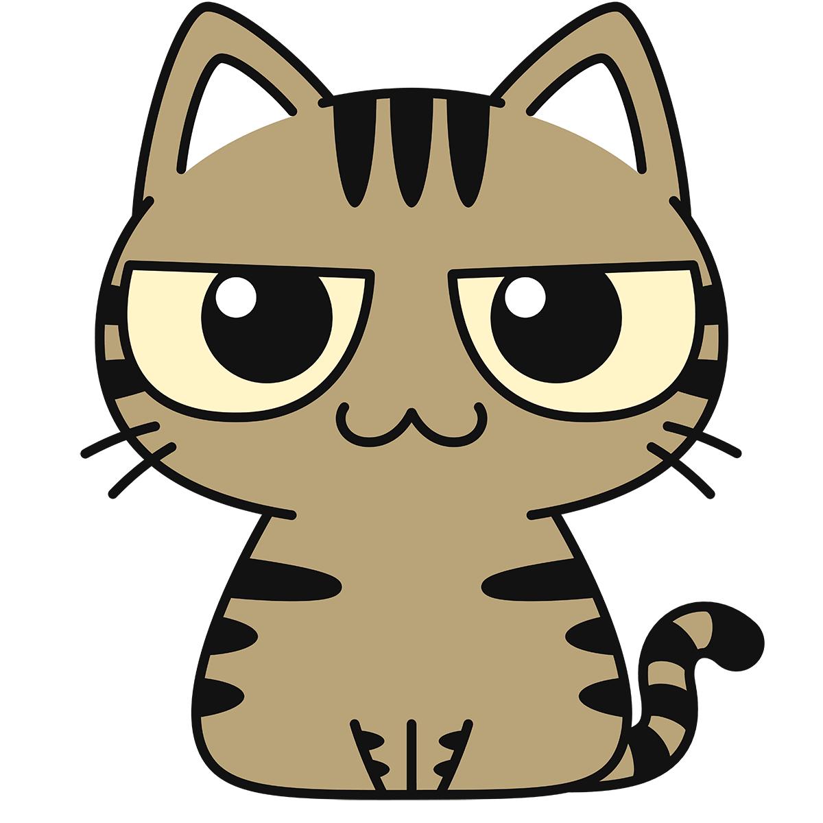 キジトラ猫の無料イラスト