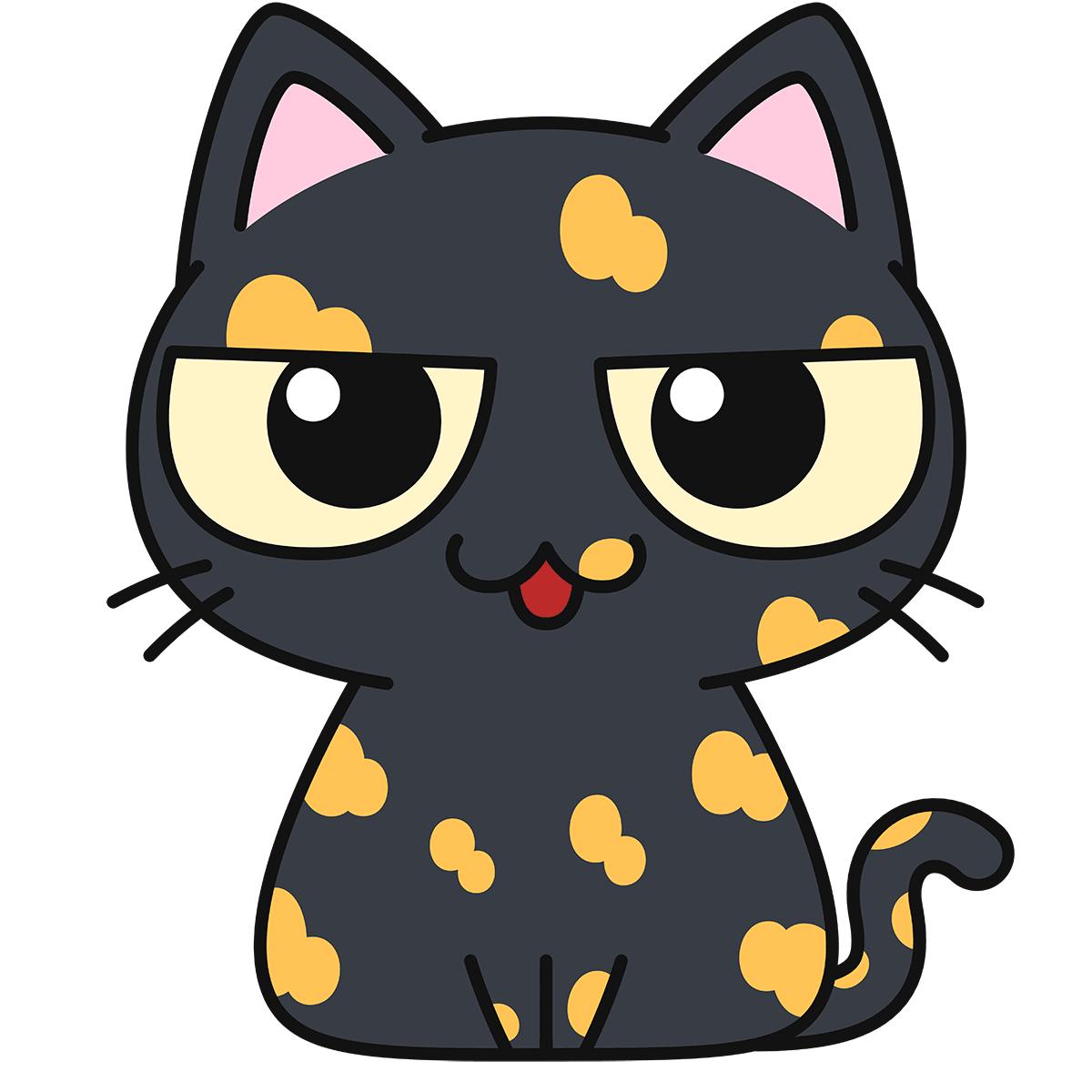 サビ猫(話す)の無料イラスト