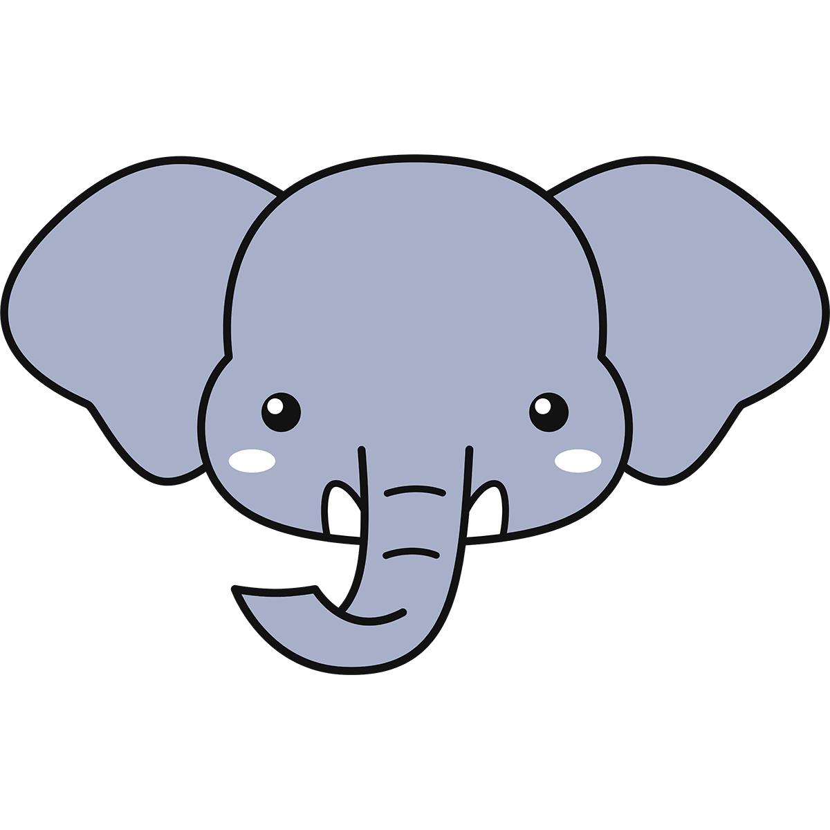 ゾウの顔の無料イラスト