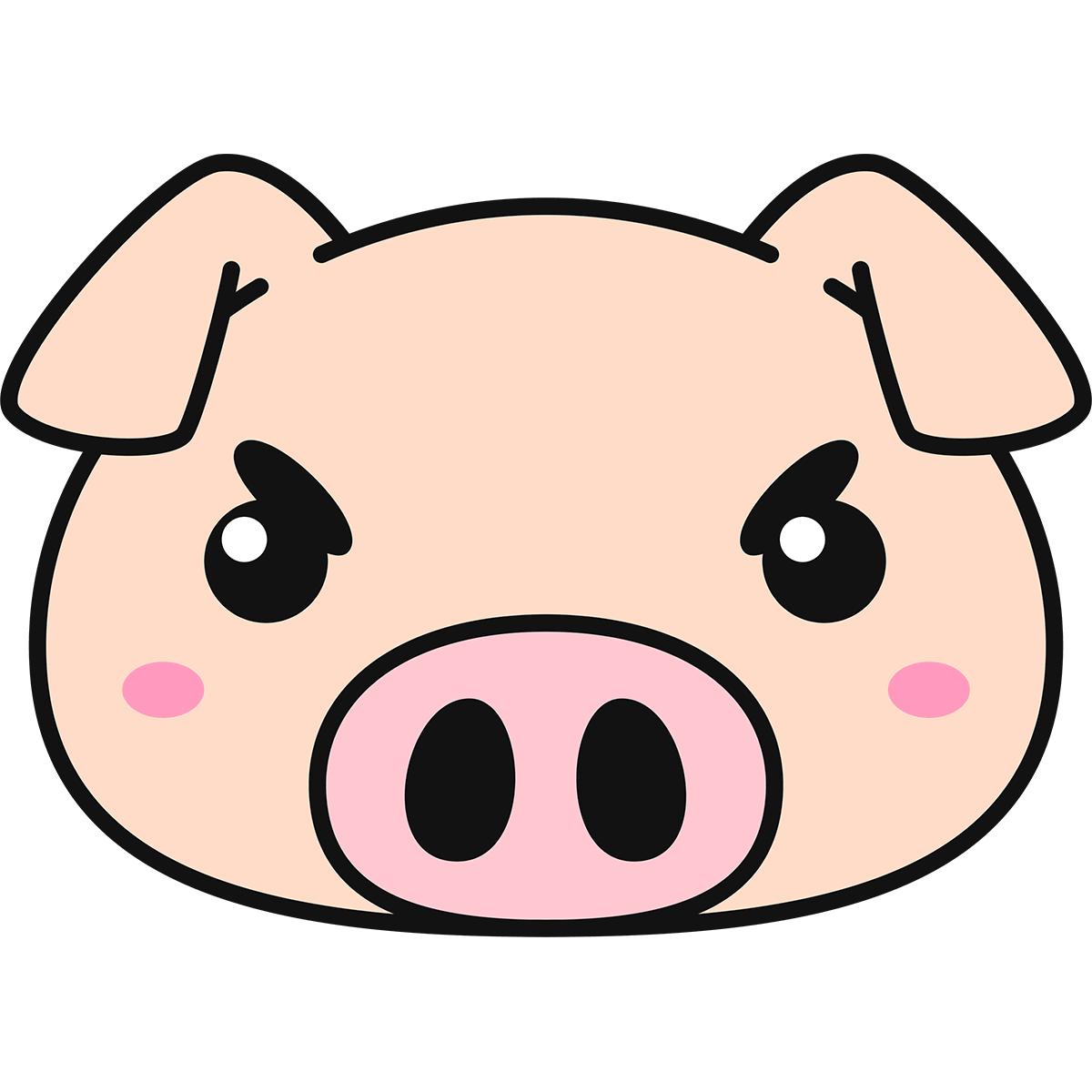 豚の顔の無料イラスト