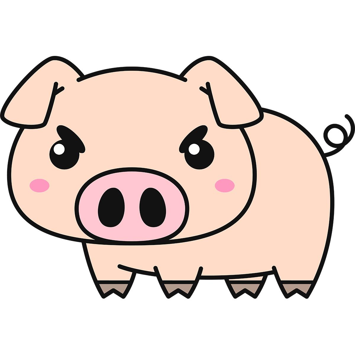 豚の無料イラスト