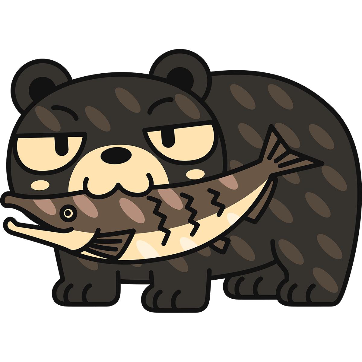 木彫りの熊の無料イラスト