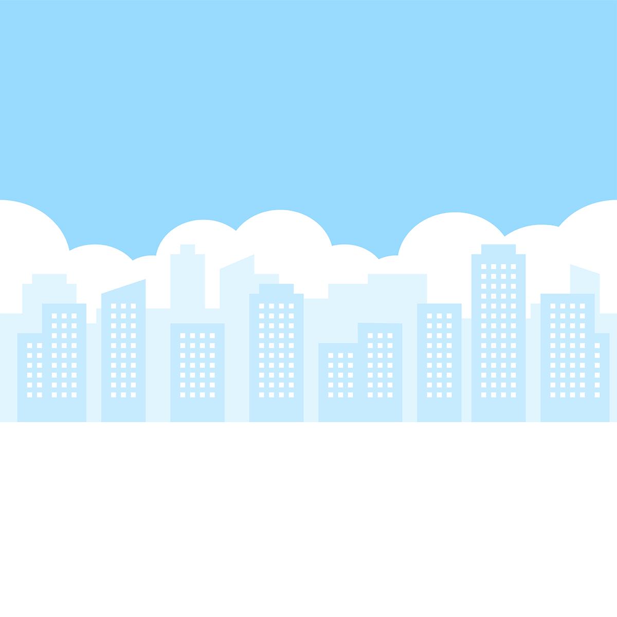 街の風景の無料イラスト