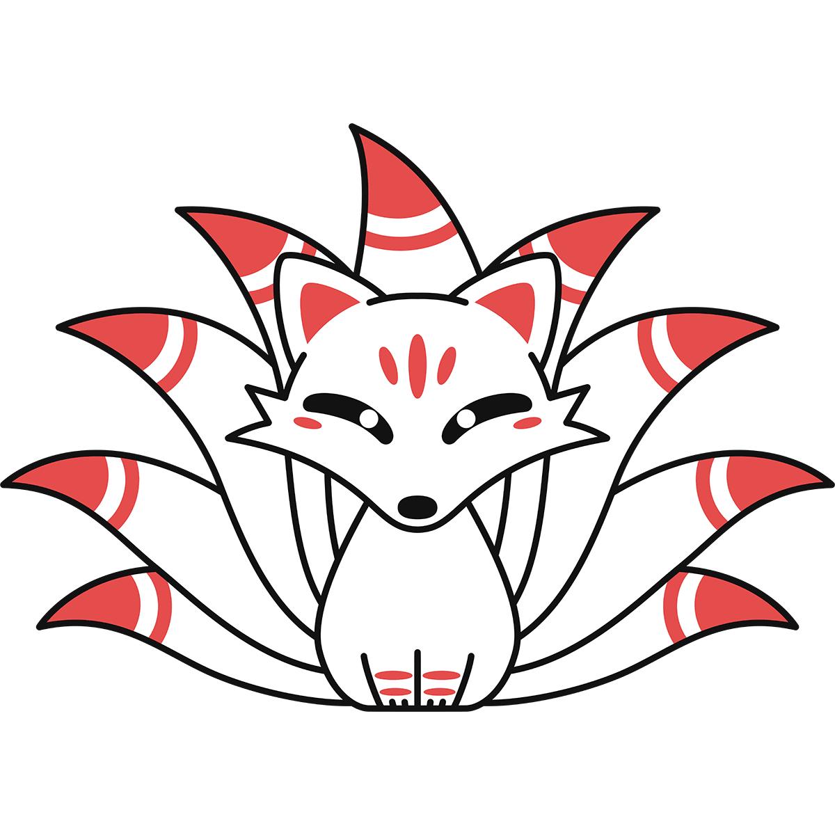 九尾の狐の無料イラスト