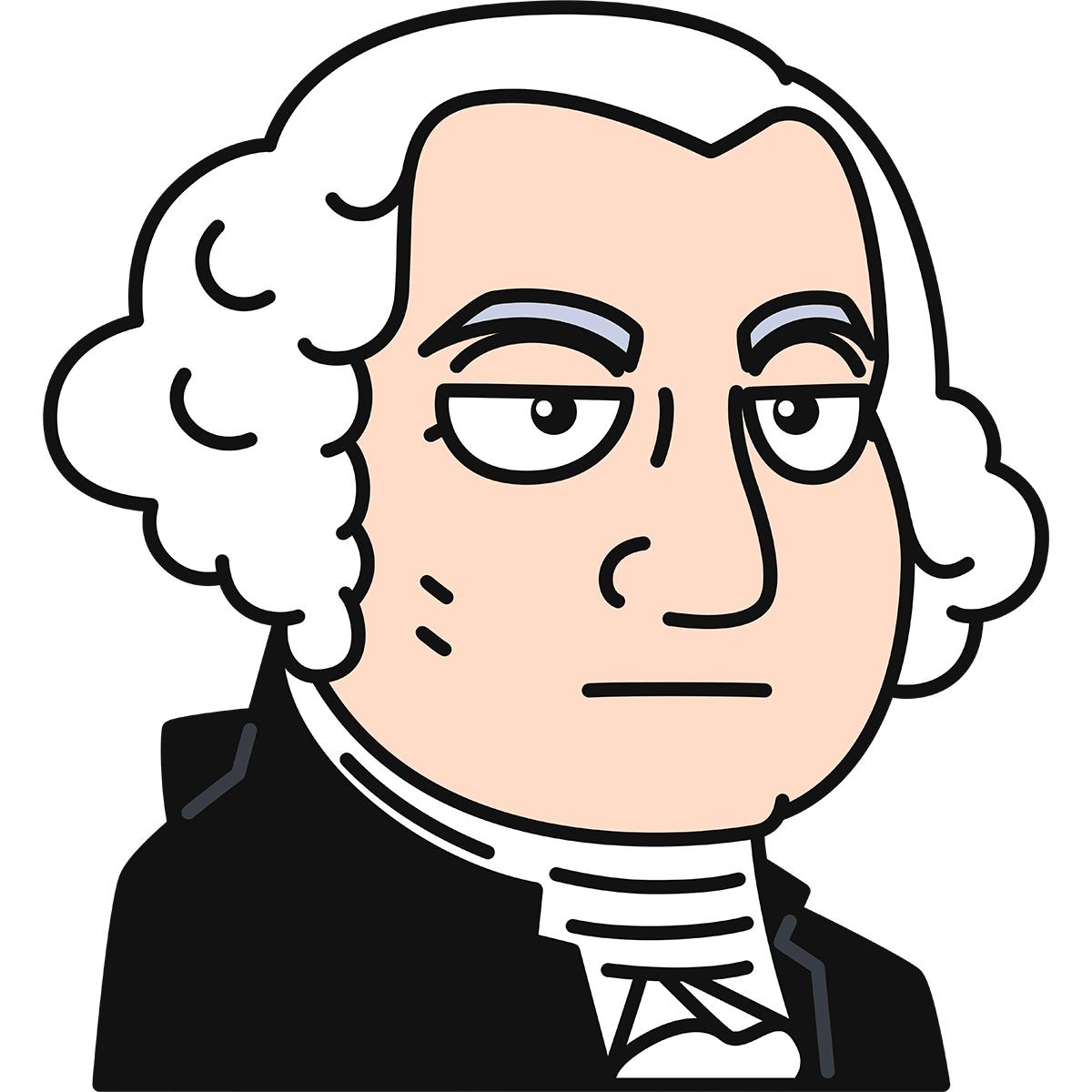 ジョージ・ワシントンの無料イラスト
