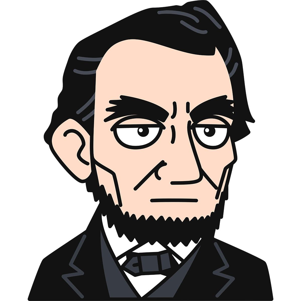 リンカーン大統領の無料イラスト