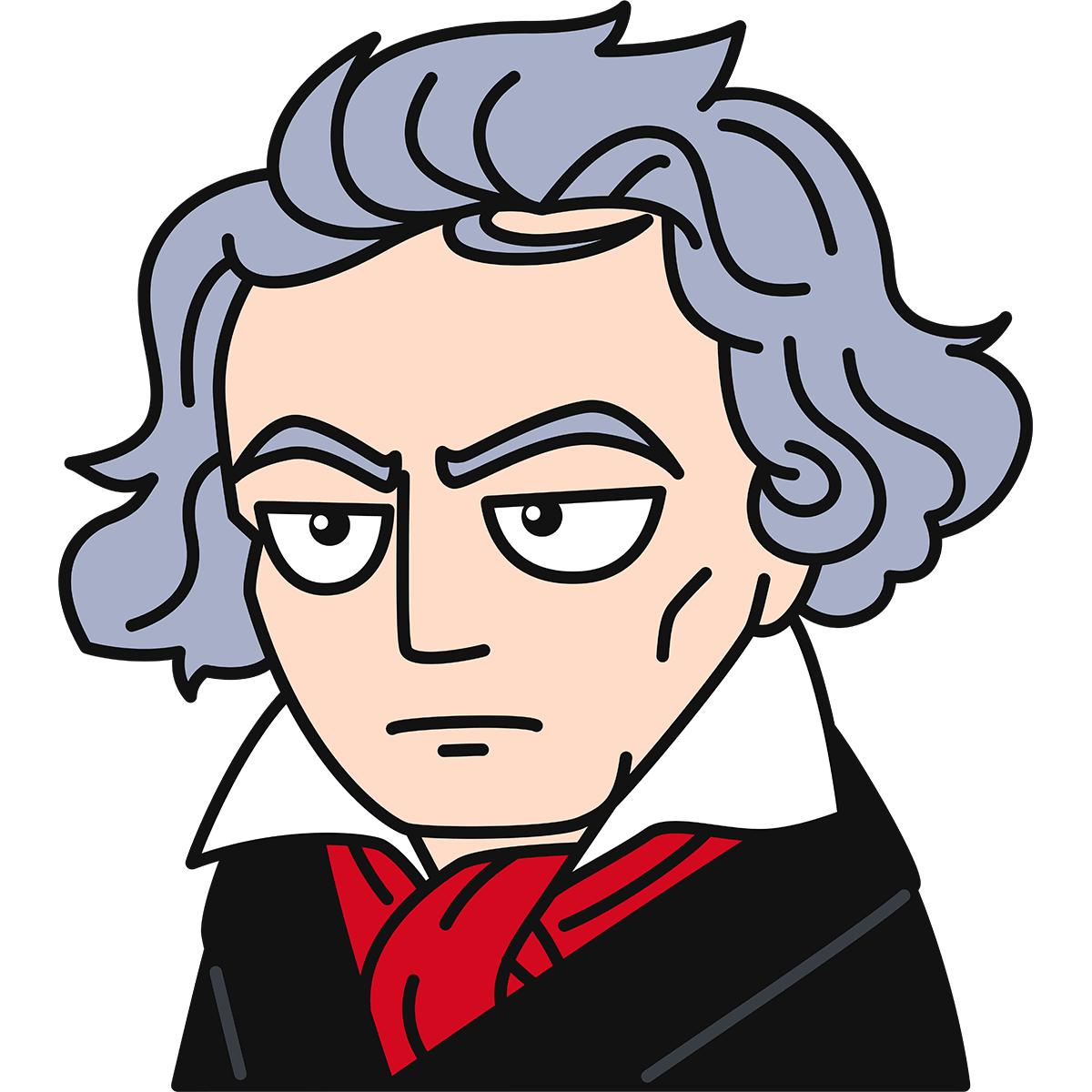 ベートーベンの無料イラスト