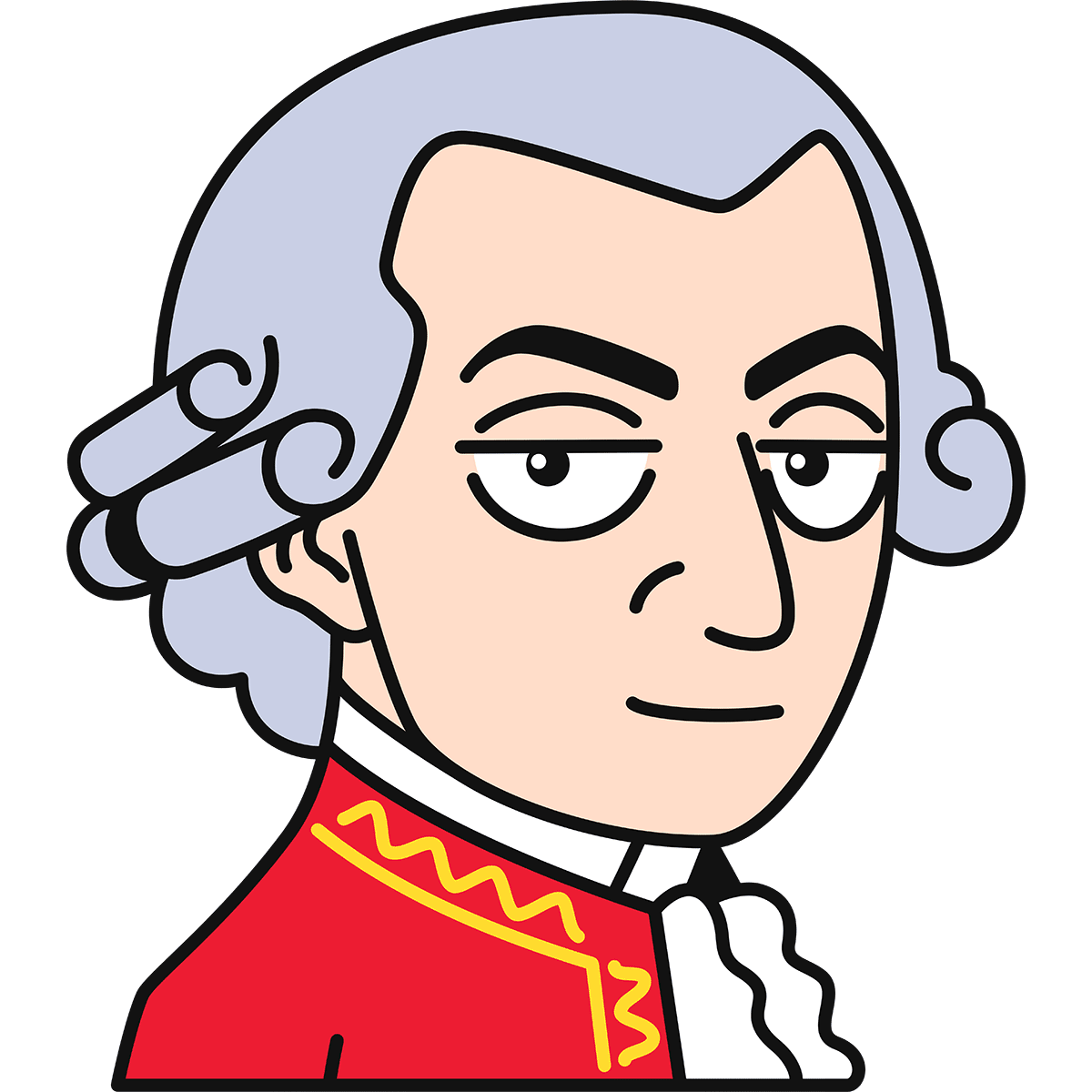 モーツァルトの無料イラスト