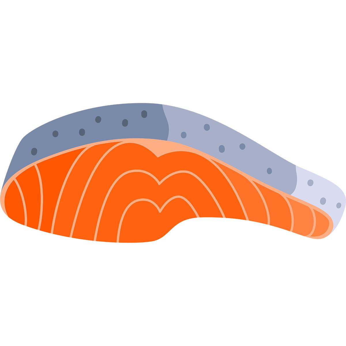 鮭の切り身の無料イラスト