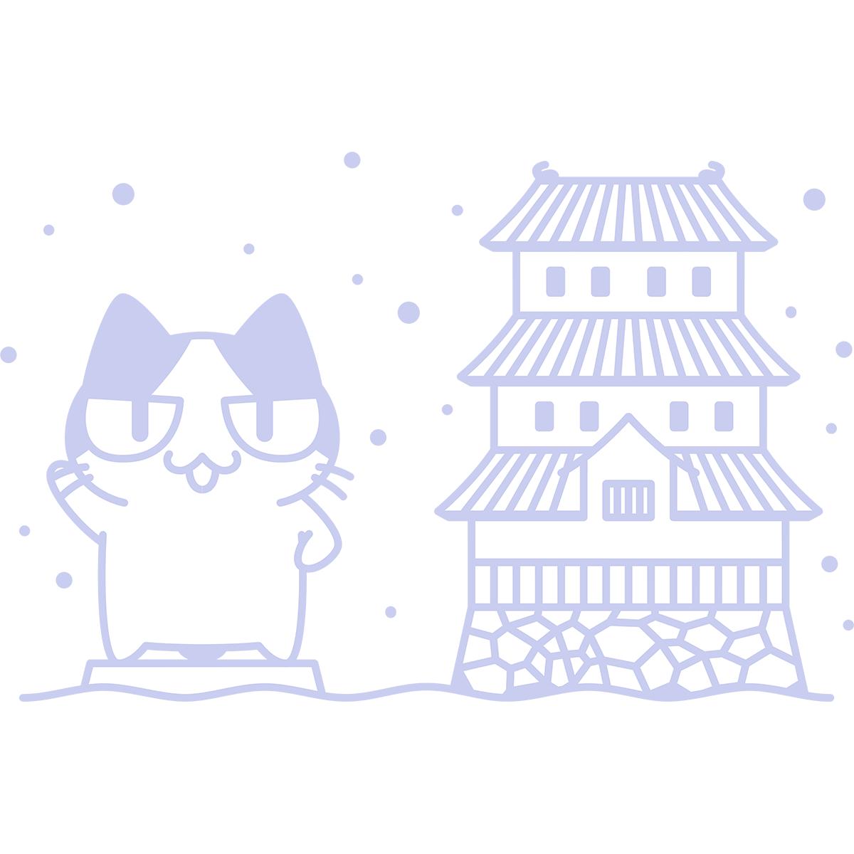 さっぽろ雪まつりの無料イラスト