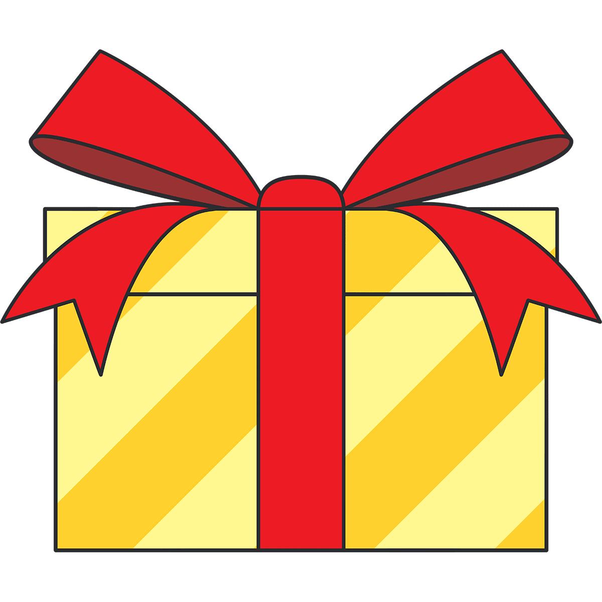プレゼントの無料イラスト