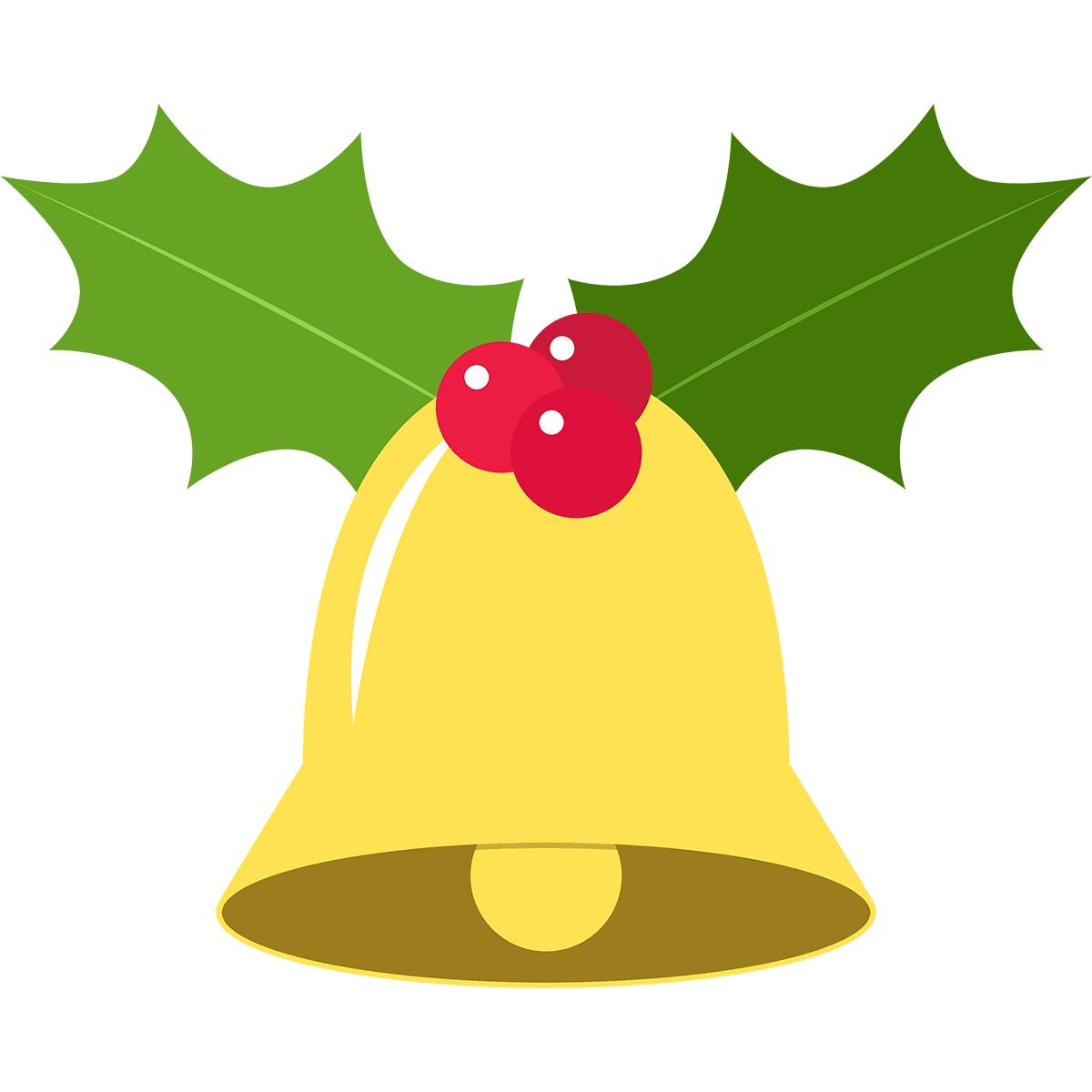 クリスマスベル(ヒイラギ)の無料イラスト