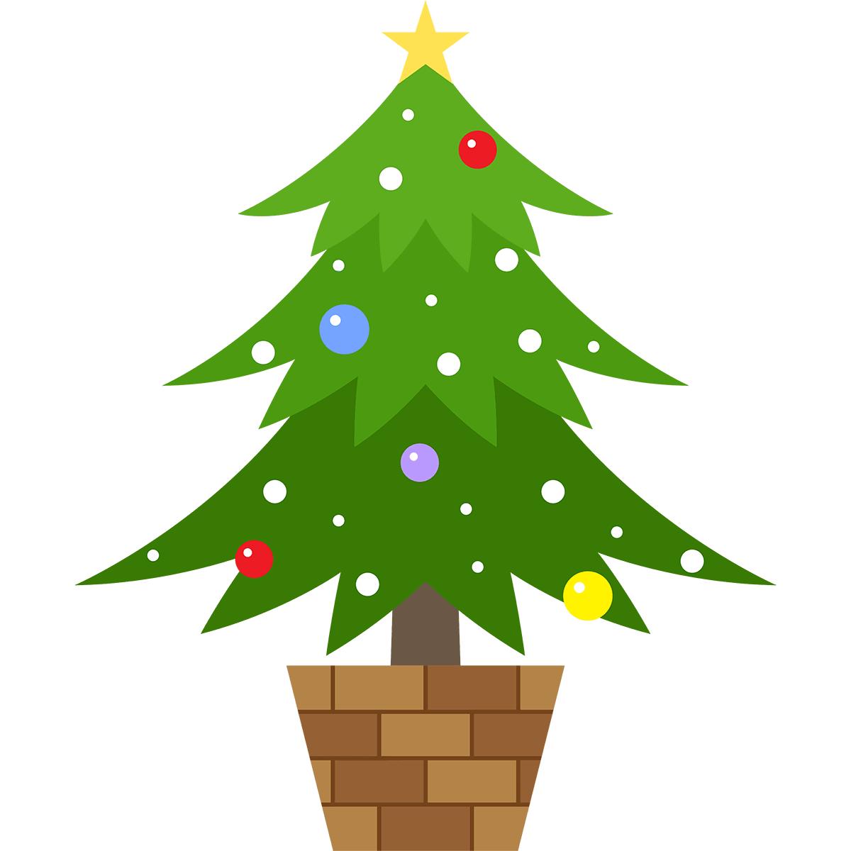 クリスマスツリーの無料イラスト