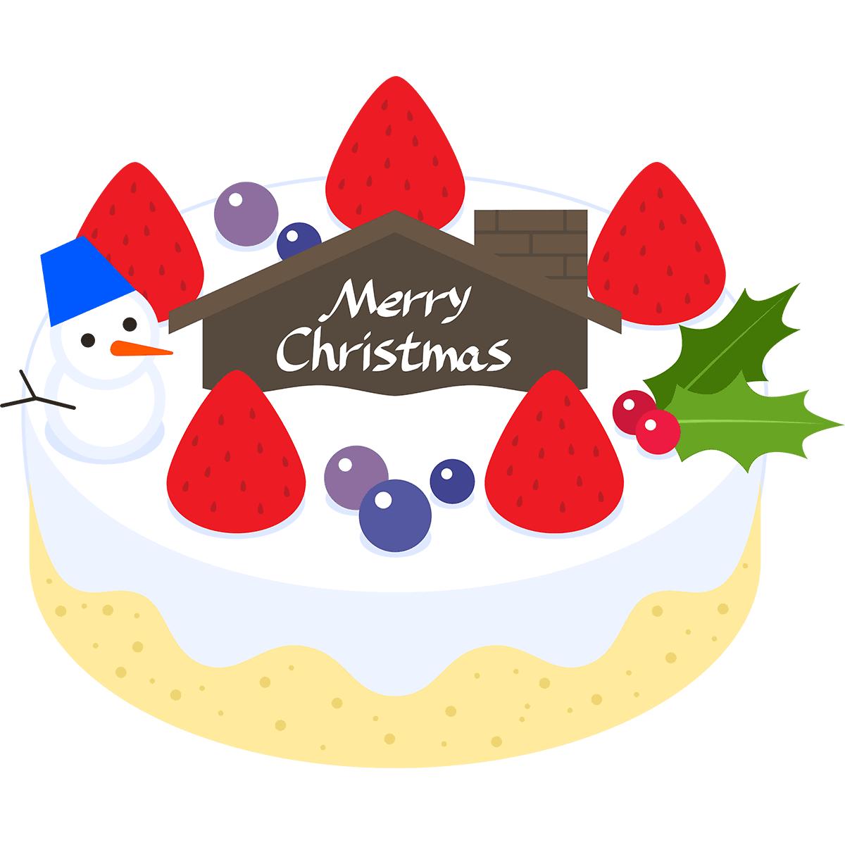 クリスマスケーキの無料イラスト