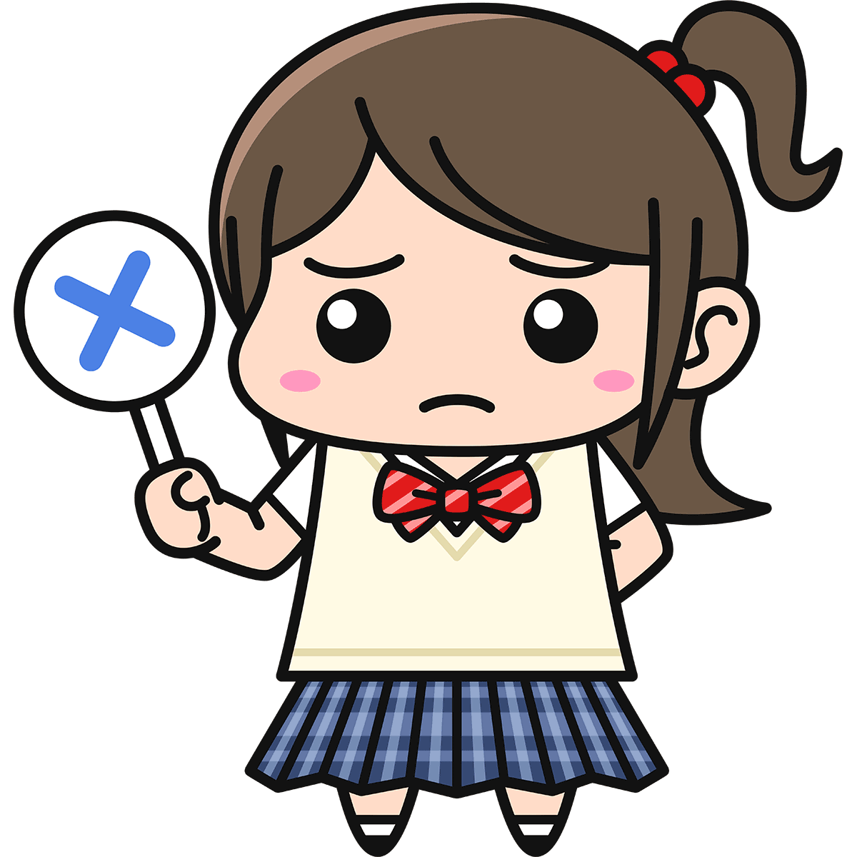 女子高生(不正解/ブレザー)の無料イラスト