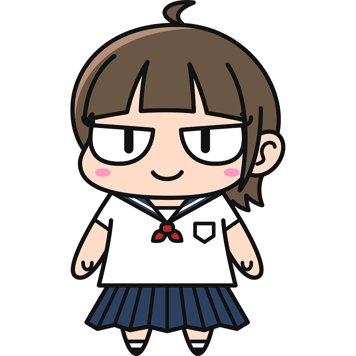女子高生ダメコの無料イラスト
