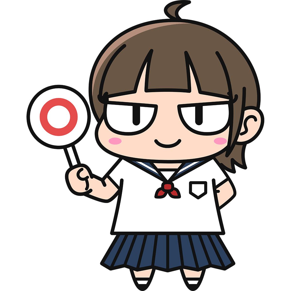 女子高生ダメコ(正解)の無料イラスト