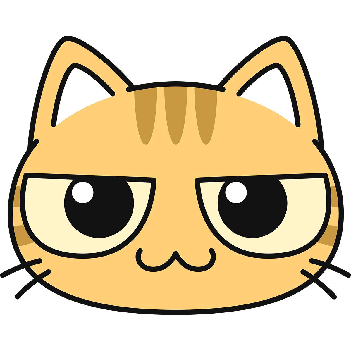 茶トラ猫の顔の無料イラスト