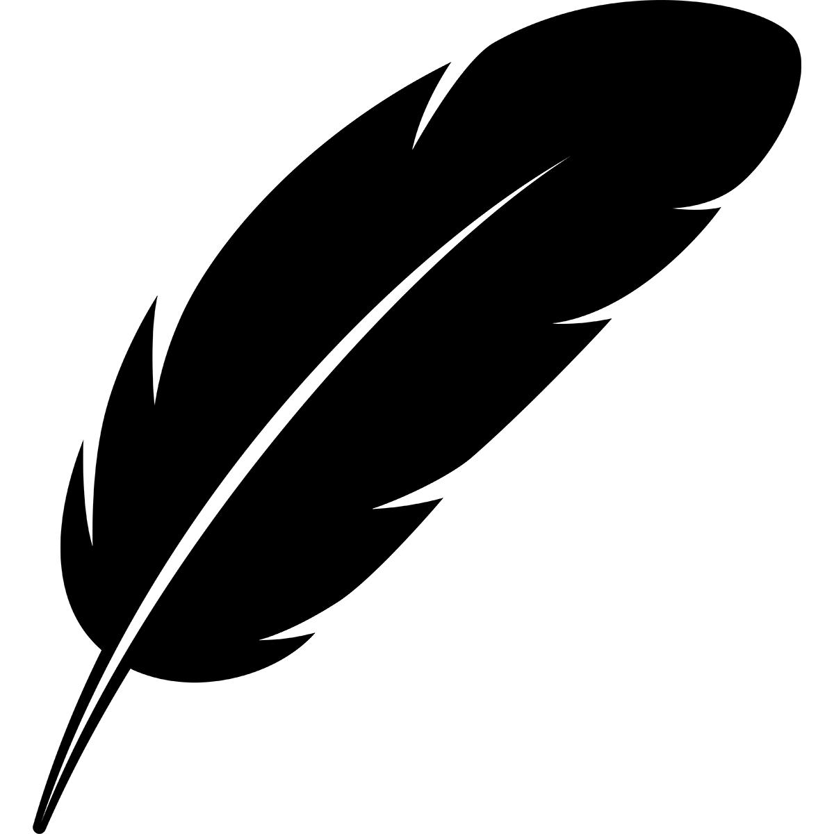 【アイコン】羽のシルエットの無料イラスト