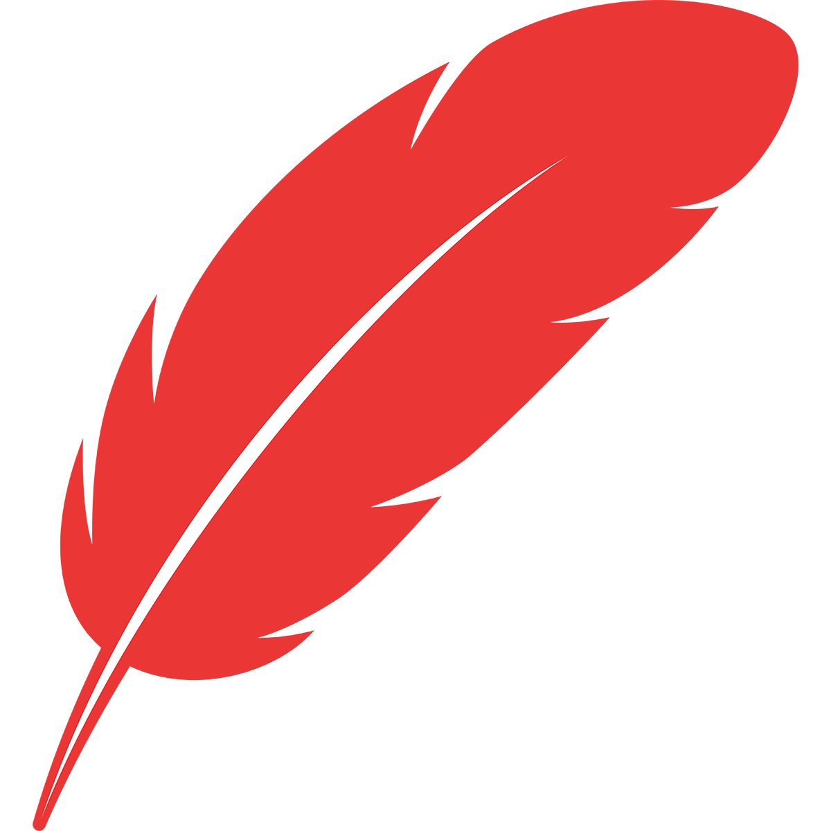 赤い羽根の無料イラスト
