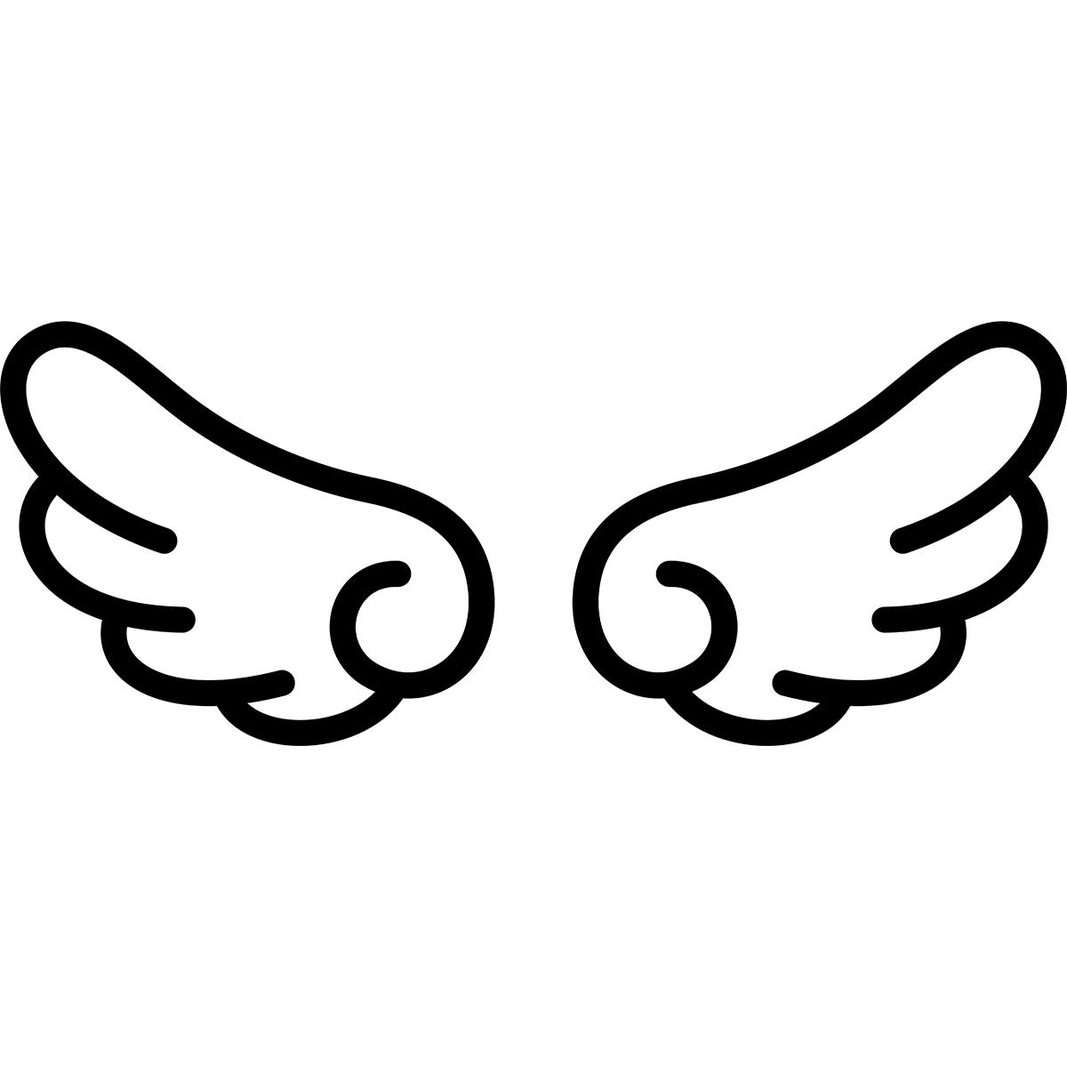 【アイコン】翼の無料イラスト