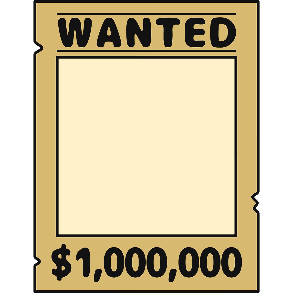 WANTEDのポスター(空欄)の無料イラスト
