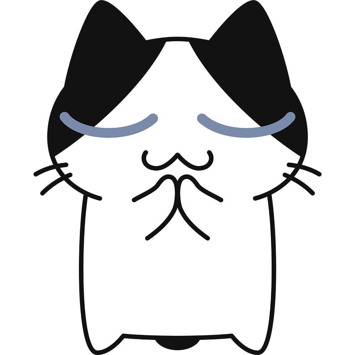 お願い事をする猫の無料イラスト