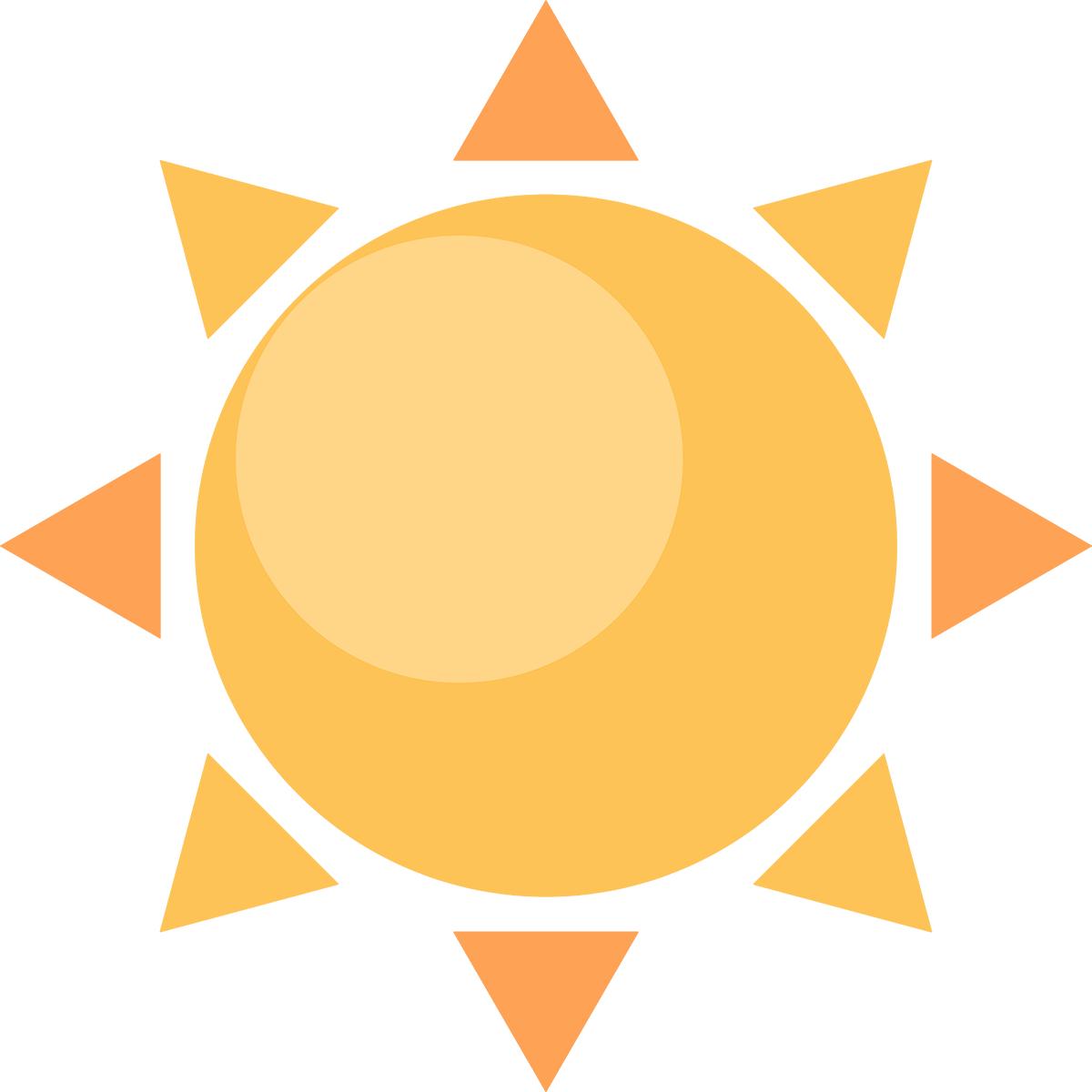 太陽の無料イラスト