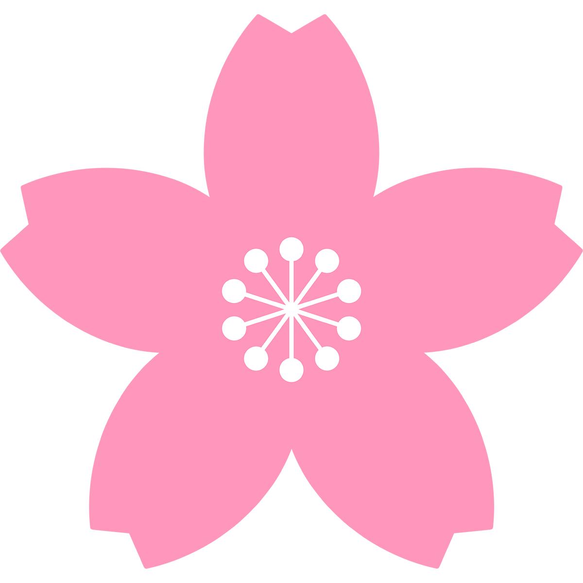桜の花の無料イラスト