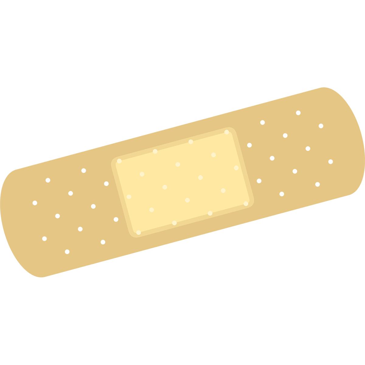 絆創膏(ばんそうこう)の無料イラスト