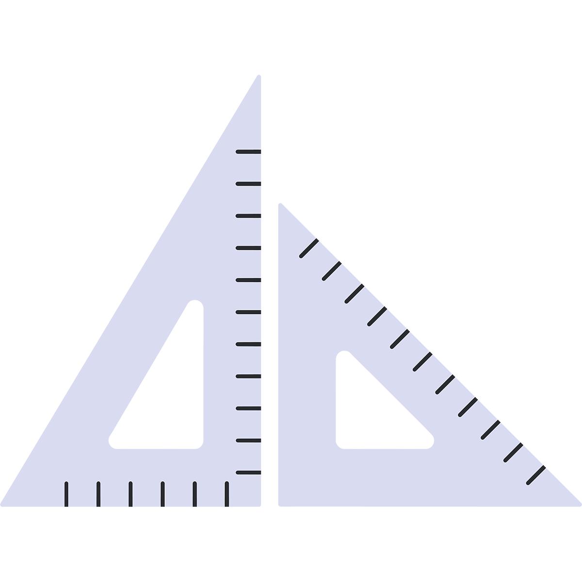 三角定規の無料イラスト