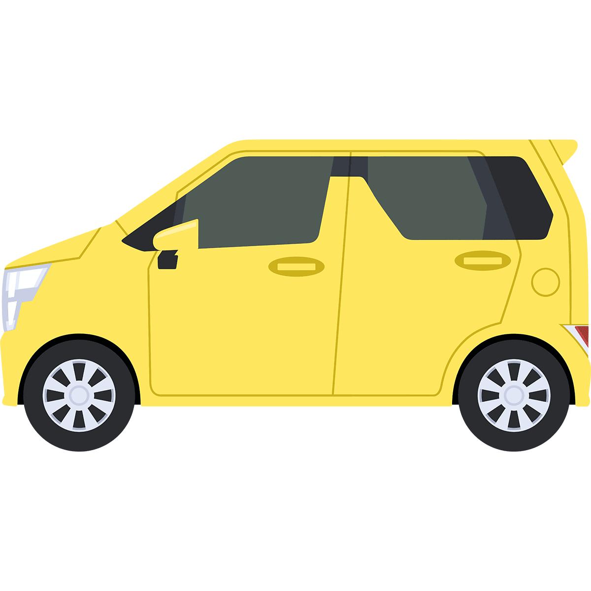 軽自動車の無料イラスト