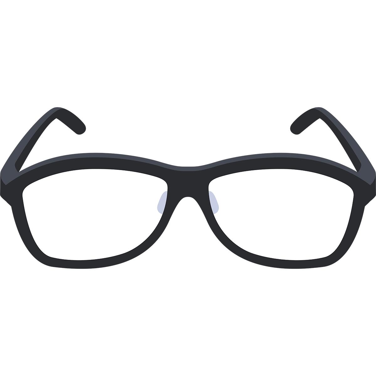 黒いメガネの無料イラスト
