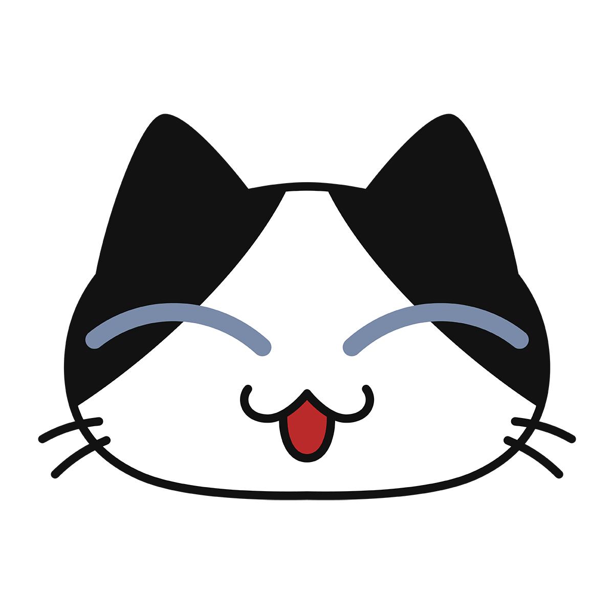 猫の喜ぶ顔(コハク)の無料イラスト