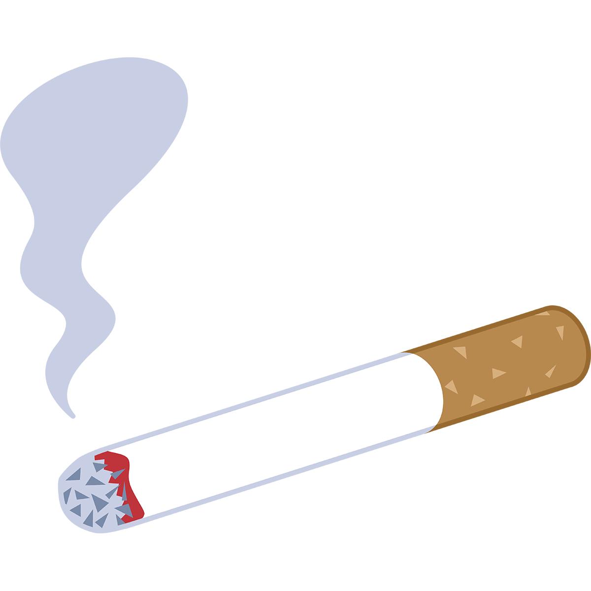 吸いかけのタバコの無料イラスト