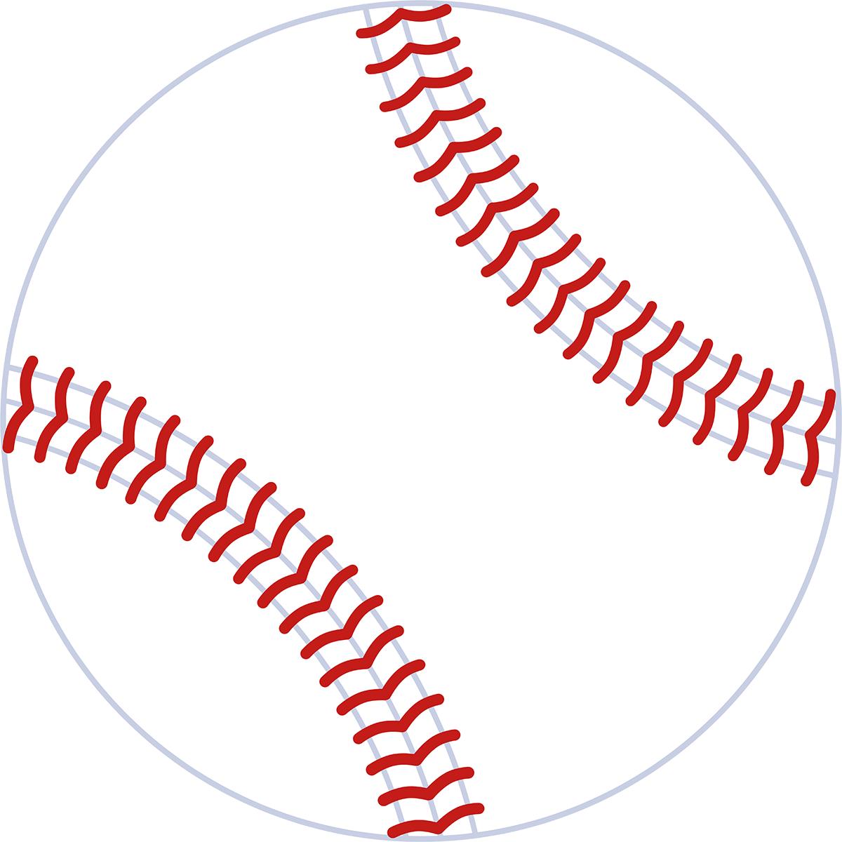 野球ボールの無料イラスト